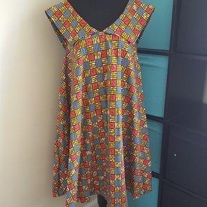 Tops - African Print Umbrella Shirt